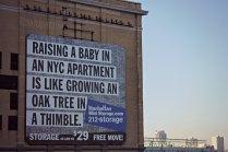 Растить ребенка в квартире в Нью-Йорке - это то же самое, что растить дуб в напёрстке.