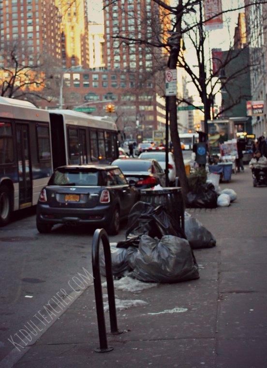 Trash in New York